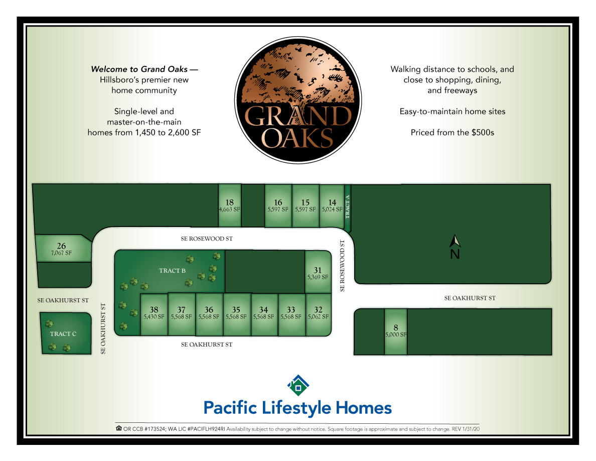 Homes in Hillsboro OR at Grand Oaks