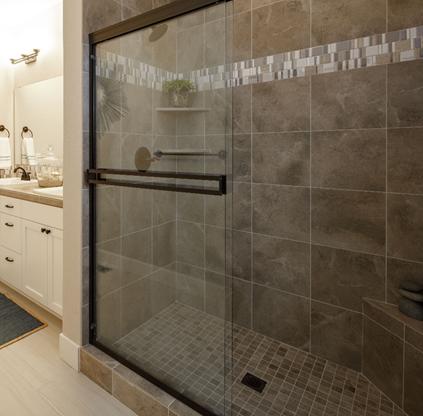 Shower Enclosures, Fiberglass Shower Stall With Glass Door